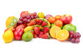 Fresh fruits isolated on a white Stock Photos