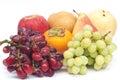 Fresh fruits isolated on white background Royalty Free Stock Images