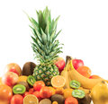 Fresh fruits lots of organic Royalty Free Stock Photos