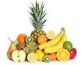 Fresh fruits mixed isolated