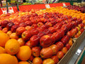 Fresh Fruits Oranges Apples Stock Photography