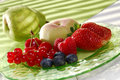 Fresh fruits on a plate Stock Photography