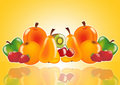 Fresh fruits poster Royalty Free Stock Photography