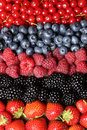 Fresh fruits in a row Royalty Free Stock Photo
