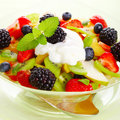 Fresh fruits salad with mint Royalty Free Stock Photo
