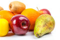 Fresh fruits selection over white Royalty Free Stock Images