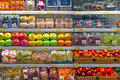 Fresh fruits at supermarket assorted for sale Royalty Free Stock Photos