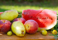 Fresh fruits on the table Royalty Free Stock Image