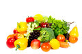 Fresh fruits and vegetables colorful for a balanced diet Royalty Free Stock Photo