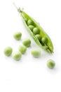 Fresh garden peas Royalty Free Stock Photo