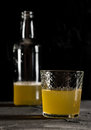 Fresh ginger beer dark photo closeup macro Royalty Free Stock Photo