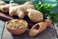 Fresh ginger root Royalty Free Stock Photo