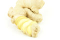 Fresh ginger root zingiber officinale on a white background Royalty Free Stock Image