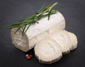 Fresh goat cheese rosemary Royalty Free Stock Images
