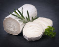 Fresh goat cheese with rosemary Royalty Free Stock Image