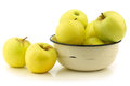 Fresh Golden Delicious apples Stock Photo