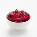 Fresh grated beetroot salad in bowl Stock Image