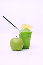 Fresh green apple juice Royalty Free Stock Images