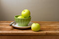 Fresh green apples Stock Photo
