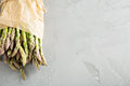 Fresh green asparagus on the table Royalty Free Stock Photo
