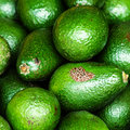 Fresh green avocado avocado background food Royalty Free Stock Photography