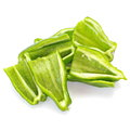 Fresh green bell pepper on white Stock Image