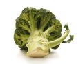A fresh green cabbage on a white background Stock Images