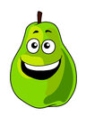 Fresh green cartoon pear fruit Royalty Free Stock Photo