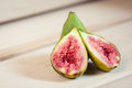 Fresh green figs closeup of caucasian Stock Image