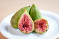 Fresh green figs closeup of caucasian Royalty Free Stock Photography