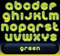 Fresh Green Font Stock Photography