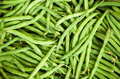 Fresh green french bean background Royalty Free Stock Photo