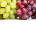 Fresh green and grapes Stock Photo