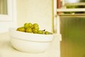 Fresh green grapes Stock Photos