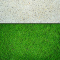 Fresh green grass and concrete Royalty Free Stock Photo