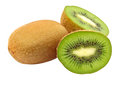 Fresh green kiwi taken closeup isolated on white background Royalty Free Stock Image