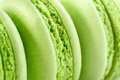 Fresh green macarons Royalty Free Stock Images