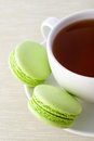 Fresh green macarons Royalty Free Stock Image