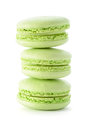 Fresh green macarons Stock Image