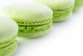Fresh green macarons Stock Photos