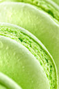 Fresh green macarons Stock Images