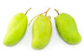 Fresh green mango rhino mango thailand isolated on white Royalty Free Stock Photos