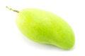 Fresh green mango rhino mango thailand isolated on white Stock Image