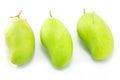 Fresh green mango rhino mango thailand isolated on white Royalty Free Stock Image