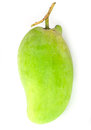 Fresh green mango rhino mango thailand isolated on white Royalty Free Stock Photo