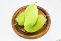 Fresh green mango rhino mango thailand isolated on white Royalty Free Stock Image