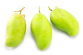 Fresh green mango rhino mango thailand on white Royalty Free Stock Photography