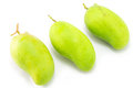 Fresh green mango rhino mango thailand on white Stock Image