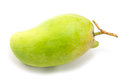 Fresh green mango rhino mango thailand on white Royalty Free Stock Image