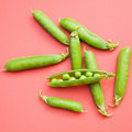 Fresh green pea pods Stock Photography